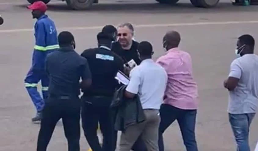 Момент задержания Александра Зингмана в Конго
