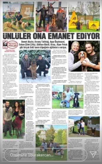 В турецкой прессе о нём писали как о звёздном тренере животных известных личностей